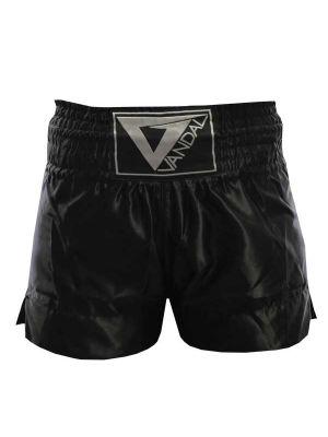 črne kick boks tajski boks hlačke1