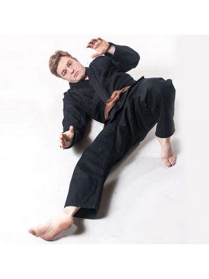ninjutsu kimono, črno karate kimono, ju-jitsu kimono