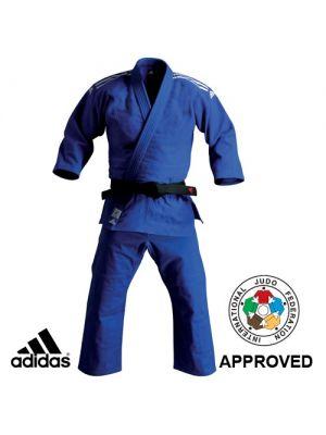 ijf modro judo kimono adidas