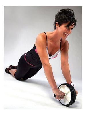 Vadbeno kolo z ročaji za krepitev mišic1