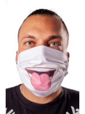 Prilagodljiva pralna bombažna zaščitna obrazna maska z motivom1