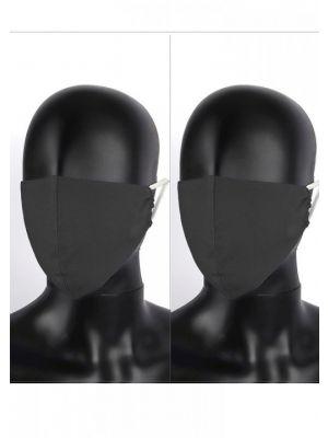 set dveh črnih bombažnih pralnih obraznih zaščitnih mask
