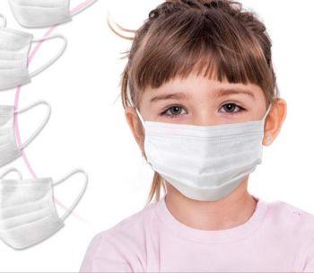 Set 10 otroških medicinskih obraznih zaščitnih mask bele barve - NOVO!!!